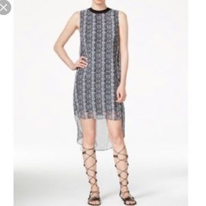 RACHEL Rachel Roy Petra High Low Snakeskin Dress S